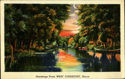 Greetings From West Jonesport Postcard