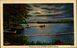 Greetings From South Casco Postcard