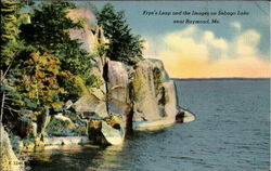 Frye's Leap And The Images On Sebago Lake