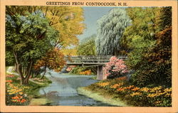 Greetings From Contoocook Postcard