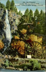 The Waterfall And The Old Time Waterwheel, Clear Creek