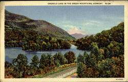Emerald Lake In The Green Mountains Postcard