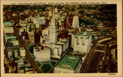 Air View Of Post Office Postcard