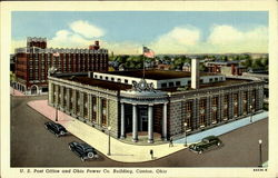 U. S. Post Office And Ohio Power Co. Building Postcard