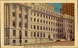 Baltimore Post Office Postcard