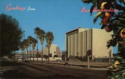 Court House and New Civic Center Buildings Postcard