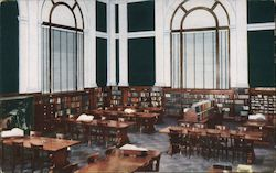 Reference Room - Ryerson Building, Grand Rapids Public Library Postcard