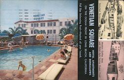 Venetian Square Hotel, Apartments and Bungalows, On the Ocean Front Postcard