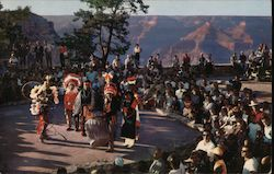 GRAND CANYON NATIONAL PARK - ARIZONA - HOPI INDIAN DANCERS Postcard