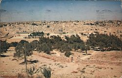 Looking Toward Jerusalem from the Mount of Olives Postcard
