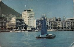 View from the harbour of the water-front, Victoria Island. Postcard