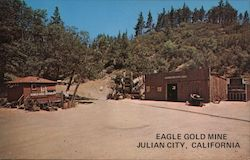 Scene at the Eagle Gold Mine Postcard