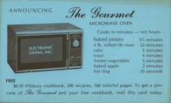 The Gourmet Microwave Oven - Electronic Living, Inc. Postcard