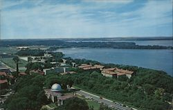 Lake Mendora with Picnic Point and University of Wisconsin Dormitories Postcard