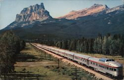 """The Canadian"" and Mount Eisenhower Postcard"