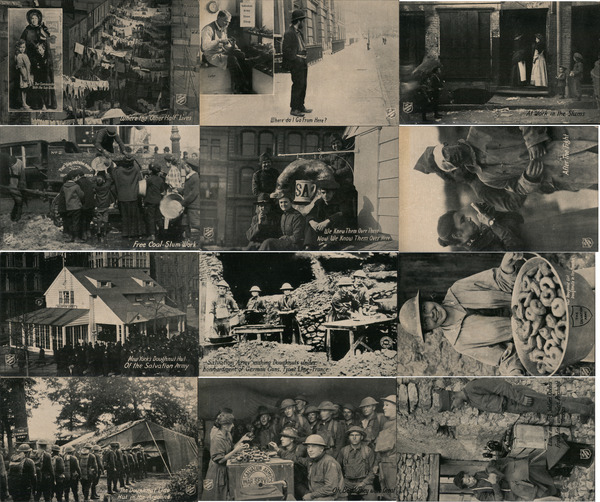 Lot of 12: Salvation Army WWI Postcards, Social History, Slums