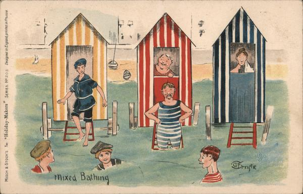 Mixed Bathing - Men in Bathsuits Art