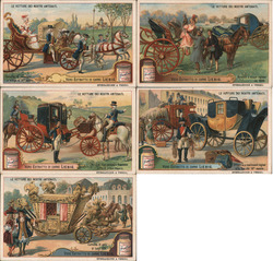 Lot of 5: Italian Liebig Meat Extract Trade Card