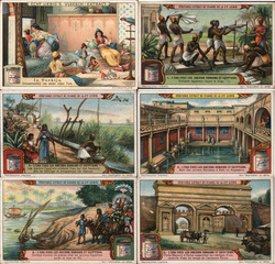 Lot of 6: Liebig's Extract of Meat Trade Cards Trade Card