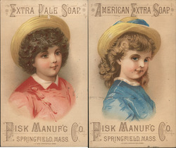 Lot of 2: Extra Pale Soap Trade Cards Fisk Manufacturing Trade Card