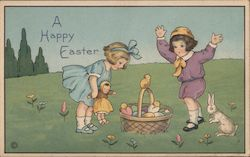 A Happy Easter Postcard