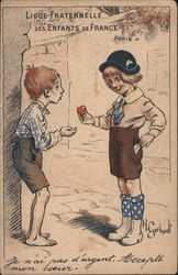 Ligue Franternell des Enfants de France Postcard