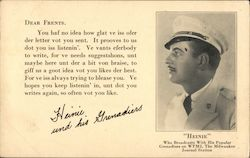 Heinie who Broadcasts With His Popular Grenadiers on WTMJ, The Milwaukee Journal Station Postcard