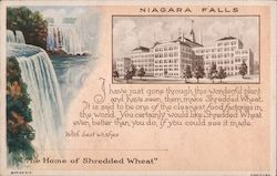 "Niagra Falls - ""The Home of Shredded Wheat"" Postcard"