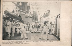 Fencing on Board a United States Warship