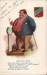 The Fat Man Postcard