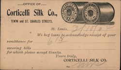 Office of Corticelli Silk Co., Tenth and St. Charles Streets. Postcard
