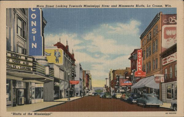 Main Street on the Bluffs of the Mississippi La Crosse Wisconsin