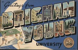 Greetings from Brigham Young University Postcard