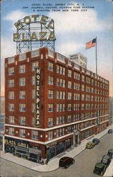 Hotel Plaza, Opp. Journal Square, Hudson Tube Station, 8 Minutes from New York City Postcard