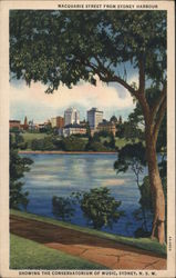 Macquarie Street from Sydney Harbour Postcard