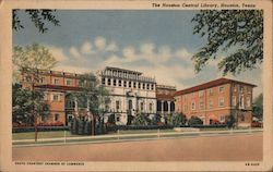 The Houston Central Library Postcard