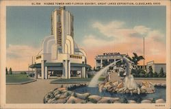 Higbee Tower and Florida Exhibit, Great Lakes Exposition 1936 Postcard