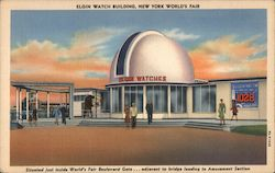 Elgin Watch Building, New York World's Fair Postcard