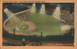 Fenway Park--Home of the Boston Red Sox Postcard