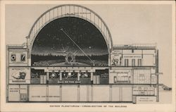 Cross-Section of the Building, Hayden Planetarium Postcard
