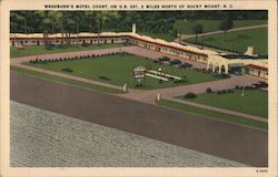 Washburn's Motel Court Postcard