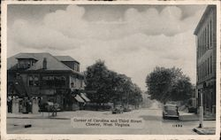 Corner of Carolina and Third Street Postcard