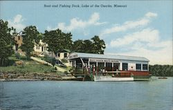 Boat and Fishing Dock, Lake of the Ozarks, Missouri