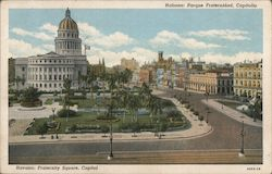 Fraternity Square, Capitol Postcard