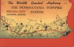 The World's Greatest Highway - The Pennsylvania Turnpike System Postcard