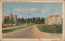 Entrance to Oglethorpe University Postcard