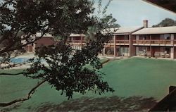 Terrace and Pool Patio - The Adventure Inn Postcard