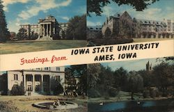 Greetings from Iowa State University Postcard