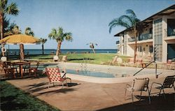 Blue Water Beach Apartments Postcard