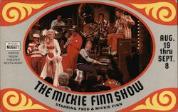 The Mickie Finn Show at John Ascauga's Nugget Postcard